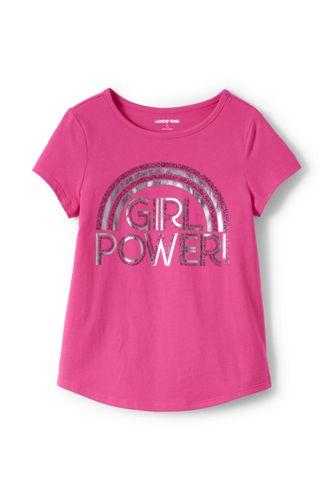 T-Shirt Graphique à Manches Courtes, Petite Fille