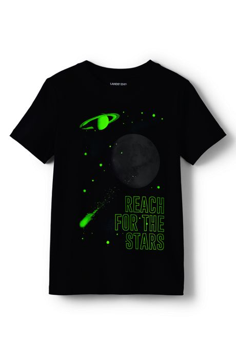 Boys Husky Glow In The Dark Graphic T Shirt