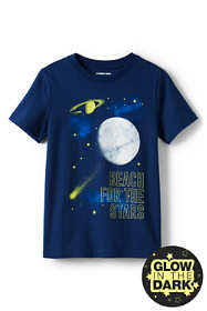 Toddler Boys Glow In The Dark Graphic T Shirt