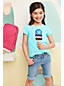 Little Girls' Dipped Hem T-shirt With Flip Sequin Motif