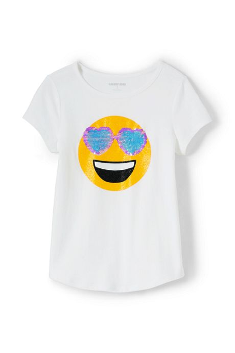 Little Girls Flip Sequin Graphic Tee