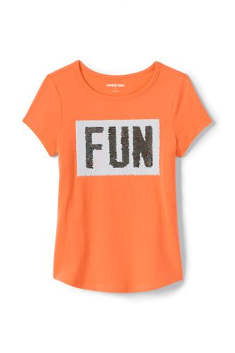 Girls Plus Size Flip Sequin Graphic Tee