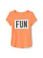 Girls' Dipped Hem T-shirt With Flip Sequin Motif
