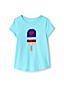 Little Girls' Dipped Hem T-shirt With Flip Sequin Motif