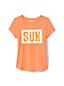 T-Shirt Manches Courtes à Paillettes, Fille