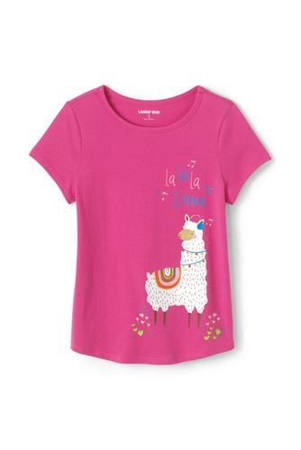 Toddler Girls' Short Sleeve Cotton T-shirt with Graphics