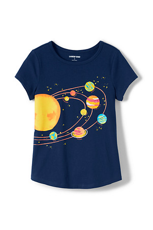 8904d523d Girls' Short Sleeve Graphic T-shirt | Lands' End
