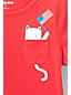 Grafik-Shirt mit Katzen-Brusttasche für Baby Mädchen