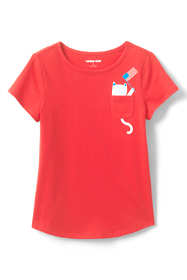 Girls Graphic Pocket T Shirt