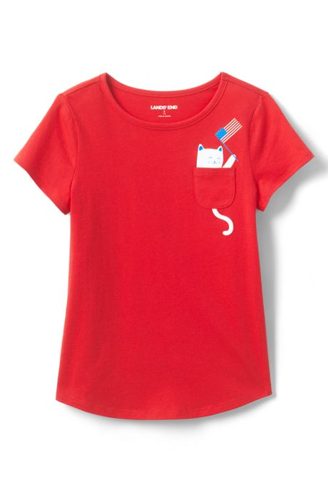 Little Girls Graphic Pocket T Shirt