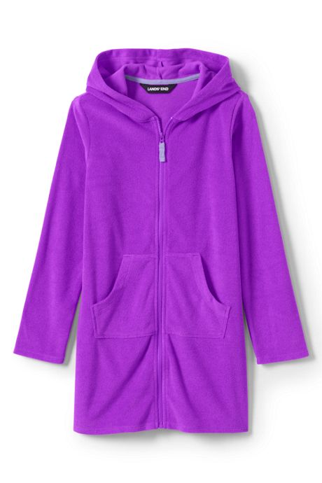 Little Girls Kangaroo Pocket swim Cover-Up