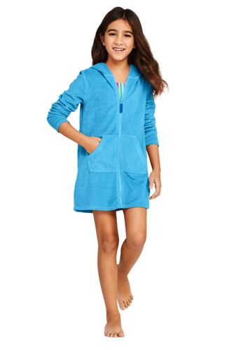 Girls Kangaroo Pocket Swim Cover-Up