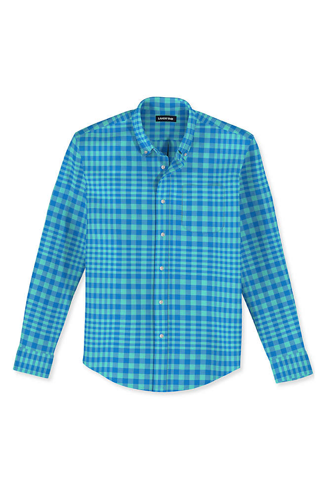 Men's Tall Traditional Fit Essential Lightweight Poplin Shirt, alternative image