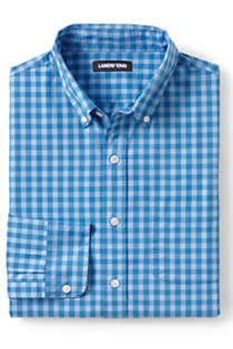 Men's Big and Tall Traditional Fit Essential Lightweight Poplin Shirt, Front