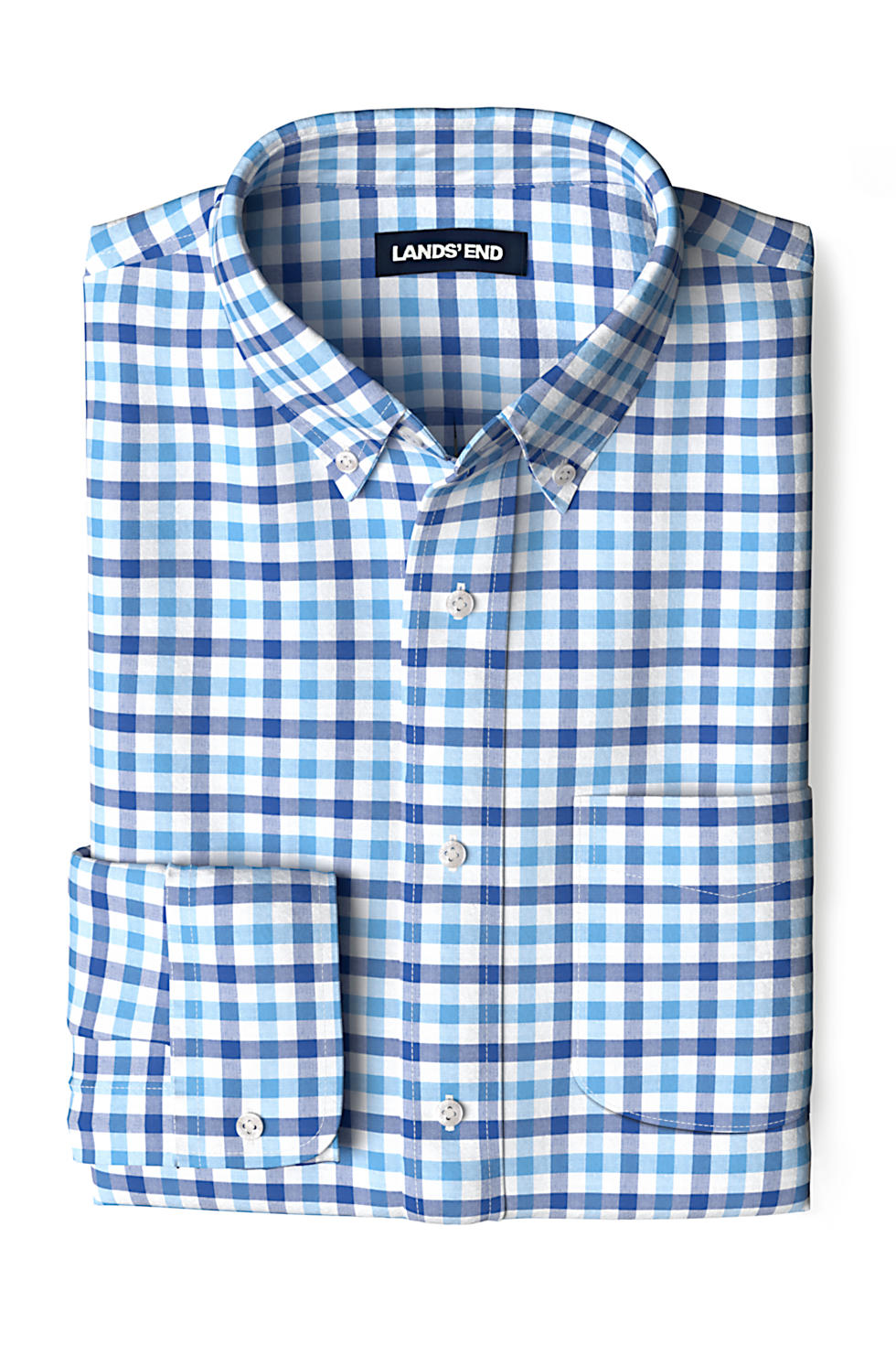 Lands End Mens Traditional Fit Essential Lightweight Poplin Shirt