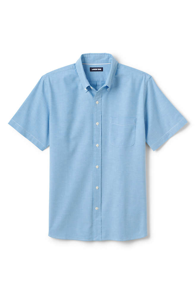 Men's Traditional Fit Short Sleeve Comfort-First Sail Rigger Oxford Shirt, Front
