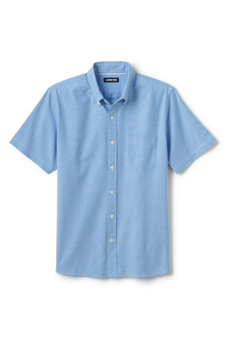 Men's Tall Traditional Fit Short Sleeve Comfort-First Sail Rigger Oxford Shirt