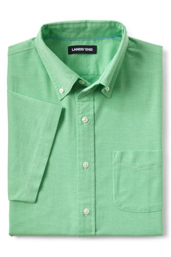 Men S Stretch Short Sleeve Oxford Shirt Lands End