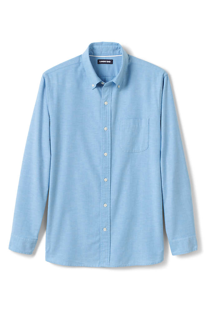 Men's Big and Tall Traditional Fit Comfort-First Sail Rigger Oxford Shirt, Front