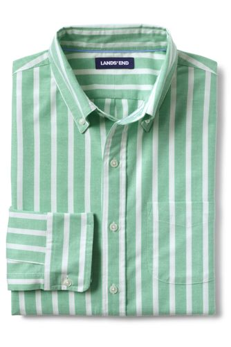 Men's Sail Rigger Patterned Stretch Oxford Shirt, Traditional Fit