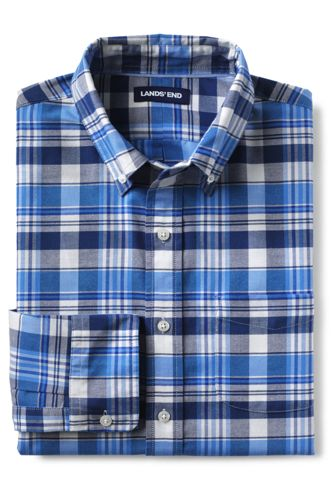 Men's Sail Rigger Patterned Stretch Oxford Shirt, Tailored Fit