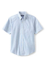 Men's Traditional Fit Short Sleeve Essential Lightweight Poplin Shirt