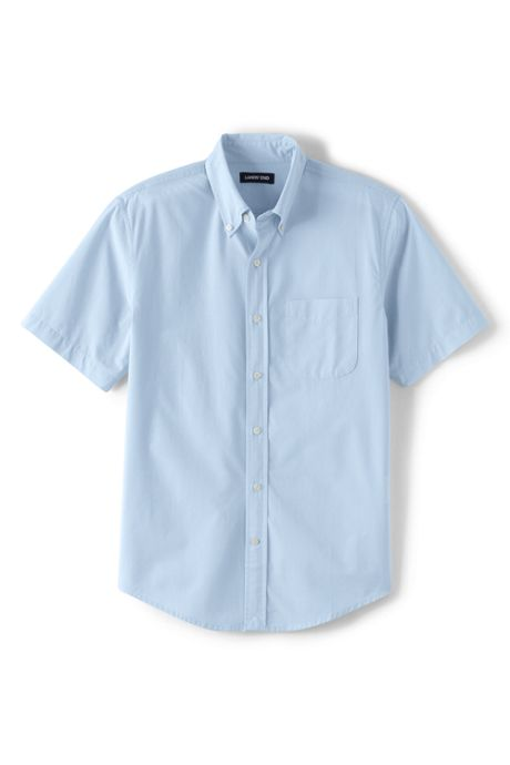 Men's Traditional Fit Short Sleeve Essential Lightweight Poplin Shirt