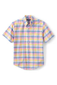 Men's Tall Short Sleeve Traditional Fit Essential Lightweight Poplin Shirt