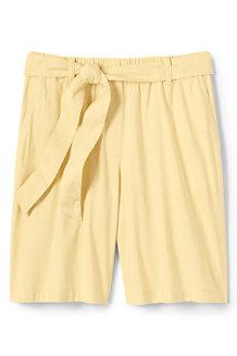 Leinen/Viskose-Shorts mit Bindegürtel für Damen