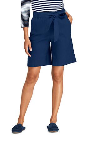 60% günstig neuesten Stil von 2019 herausragende Eigenschaften Leinen/Viskose-Shorts mit Bindegürtel für Damen