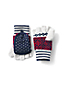 Women's Striped Fair Isle Mittens