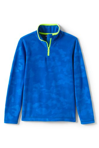 Kids' Half Zip Embossed Fleece Top