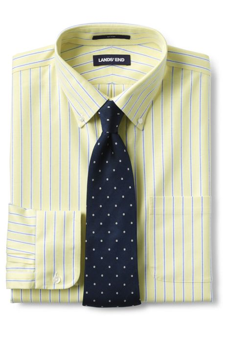 Men's Tall Traditional Fit No Iron Oxford Shirt with Stretch