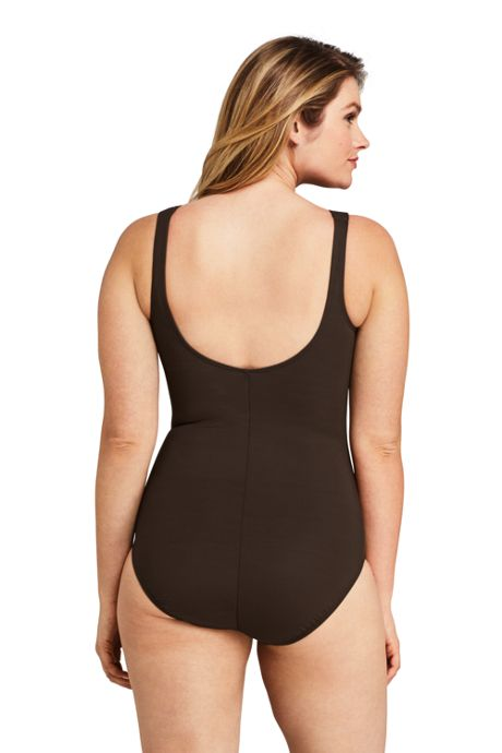 Women's Slender High-neck One Piece Swimsuit with Tummy Control