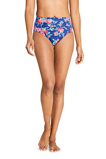 Women's Beach Living Print High Waist Bikini Bottoms
