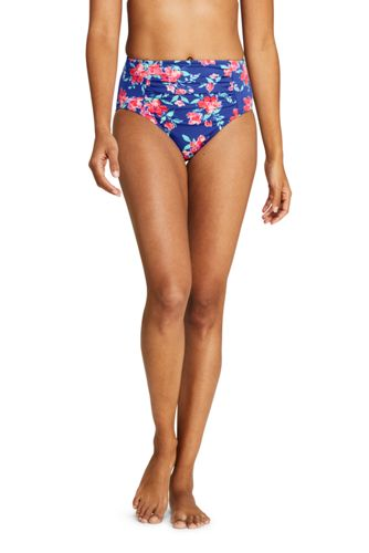 Women's Beach Living Print High Waist Bikini Bottoms