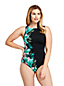 Women's Slender Print High Neck Swimsuit