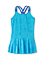 Girls' Colour Change Graphic Skirted Swimsuit