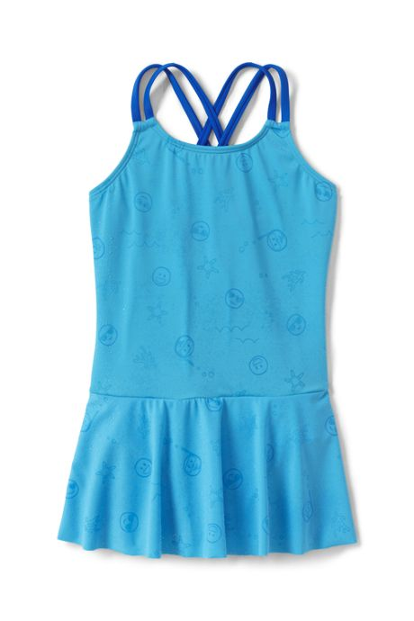 Little Girls Graphic Magic Print Cross Back Skirted One Piece