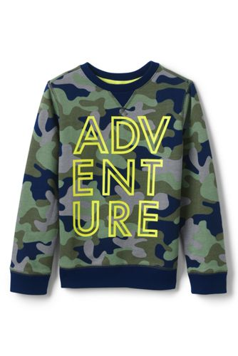 Boys' Camo Sweatshirt with Graphic