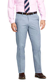 Men's Traditional Fit Comfort First Cotton Oxford Trousers