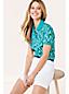 Polo Piqué Stretch Imprimé à Manches Courtes, Femme Stature Standard
