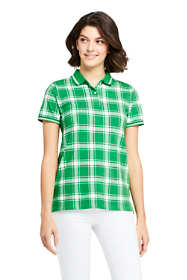Women's Mesh Cotton Short Sleeve Polo Shirt Print