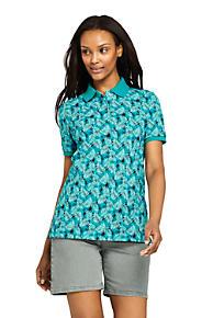 4b7d3b2202aed Women s Print Mesh Cotton Polo Shirt Short Sleeve