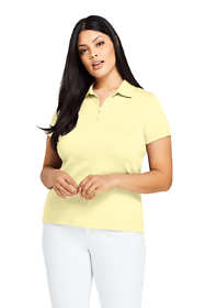 Women's Plus Size Supima Cotton Polo Shirt Short Sleeve
