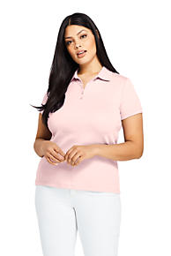 Women s Plus Size Supima Cotton Polo Shirt Short Sleeve 6e6fe5e530