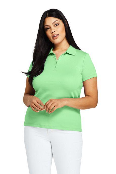 Women's Plus Size Supima Cotton Polo Shirt Short Sleeve