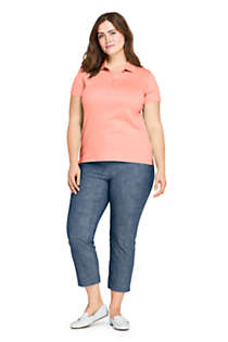 Women's Plus Size Supima Cotton Short Sleeve Polo Shirt, alternative image