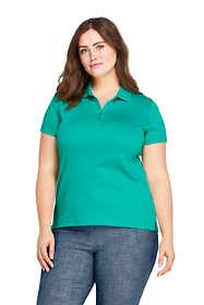 Women's Plus Size Supima Cotton Short Sleeve Polo Shirt