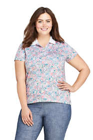 Women's Plus Size Supima Cotton Short Sleeve Polo Shirt